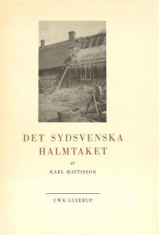 Cover for Det sydsvenska halmtaket